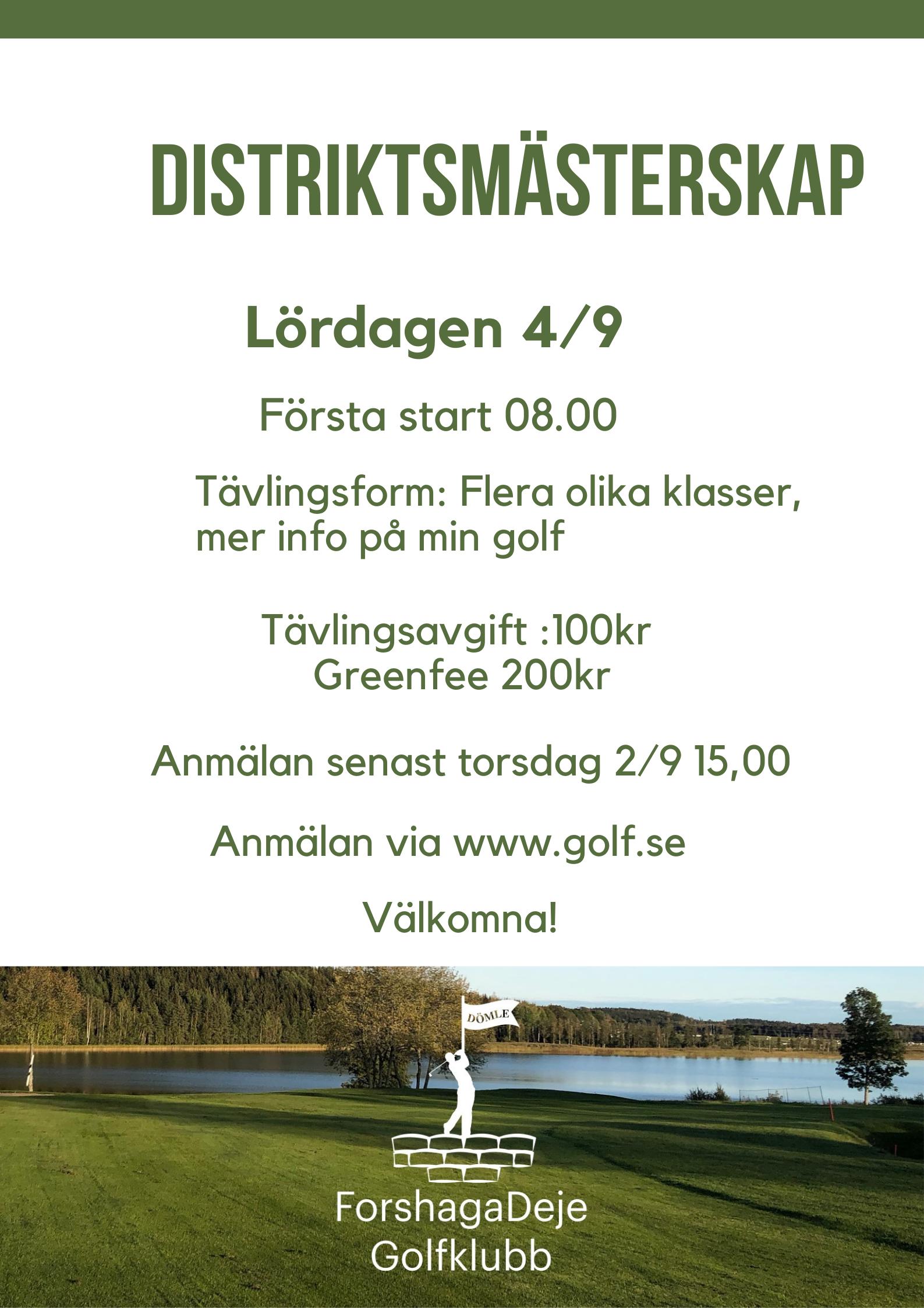 """Featured image for """"Välkommen till Distriktsmästerskap 4/9"""""""