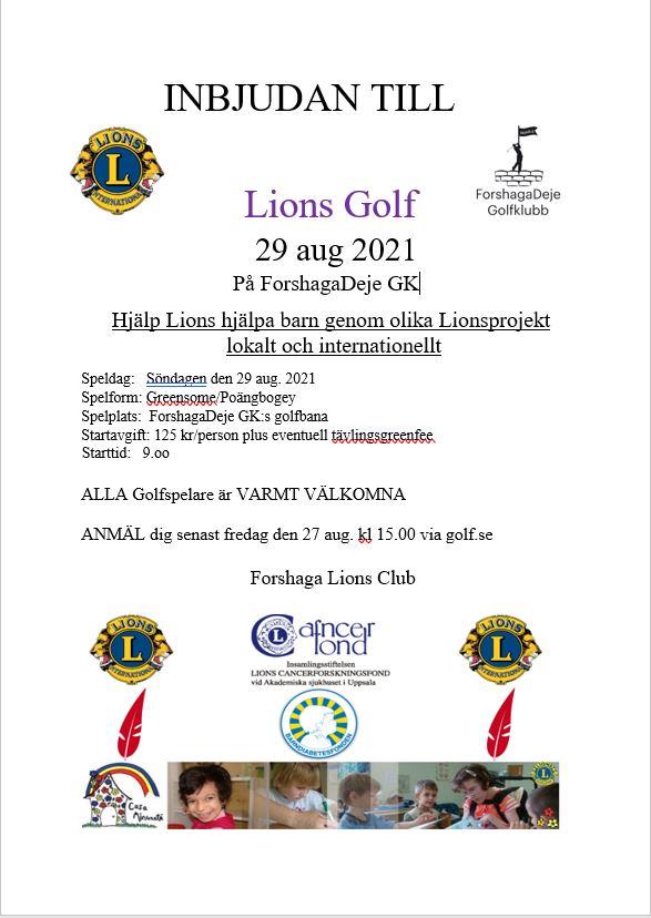 "Featured image for ""Välkommen till Lions 29/8"""