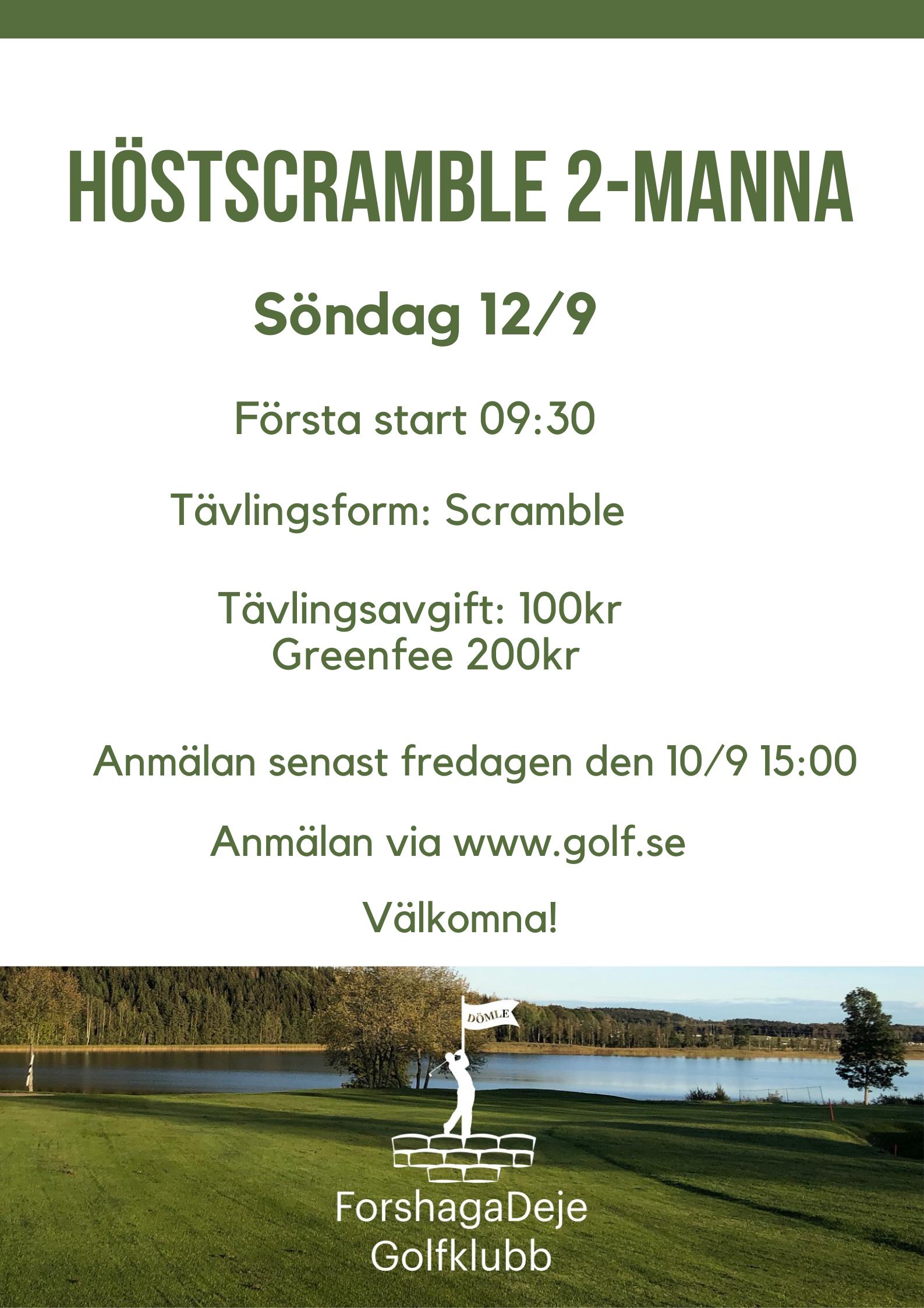 """Featured image for """"Välkommen till Höstscramble 2-manna 12/9"""""""